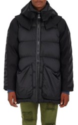 Moncler O Men's Granville Down Quilted Puffer Coat Black Dark Grey Black Dark Grey
