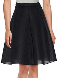 Saks Fifth Avenue Red Knitted A Line Skirt Black
