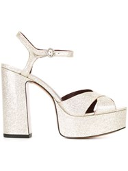 Marc Jacobs 'Debbie' Sandals Metallic