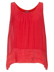 Phase Eight Mai Silk Sleeveless Blouse Red