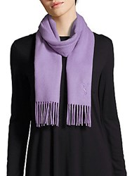 Yves Saint Laurent Solid Wool And Cashmere Scarf Lavender