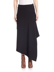 Tibi Origami Wrap Skirt Black