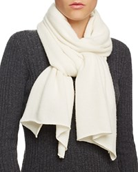 Bloomingdale's C By Bloomingdales Cashmere Angelina Solid Scarf Ivory