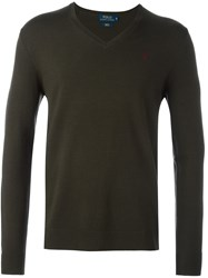 Polo Ralph Lauren V Neck Pullover Green