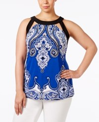 Inc International Concepts Plus Size Cutout Halter Top Only At Macy's Castle Garden