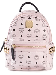 Mcm Mini 'Stark' Studded Backpack Pink And Purple