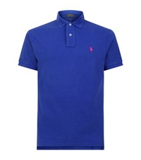 Polo Ralph Lauren Small Pony Custom Fit Mesh Shirt Male Blue