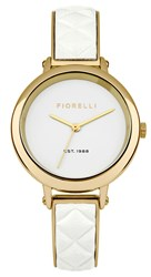 Fiorelli Ladies Gold And White Bangle Watch