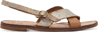 Officine Creative Gold And Silver Distressed Leather Sandals