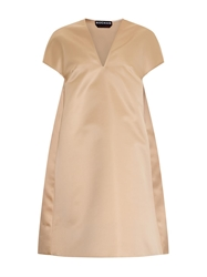 Rochas Cocoon Shaped Satin Dress