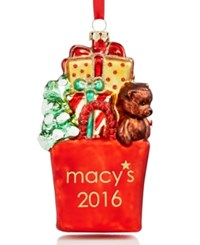 Holiday Lane Macy's 2016 Shopping Bag Ornament Only At Macy's