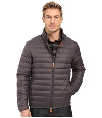 Save The Duck Giga Non Hooded Nylon Basic Charcoal Grey Men's Coat Gray