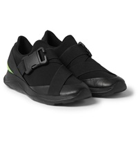 Christopher Kane Scuba Leather And Rubber Sneakers