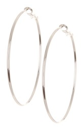 14Th And Union Large Basic Hoop Earrings Metallic