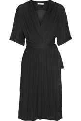 Etoile Isabel Marant Boyce Wrap Effect Chiffon Dress Black
