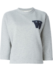 Wood Wood 'W' Sweatshirt Grey