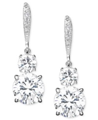 Eliot Danori Earrings Cubic Zirconia 6 Ct. T.W. And Crystal