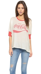 Wildfox Couture Coca Cola Morning T Shirt Vintage Lace India Poly