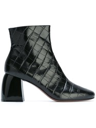 Sportmax 'Sibari' Quilted Ankle Boots Black