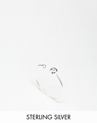 Asos Sterling Silver Fine Open Bead Ring