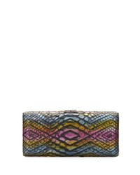 Vbh Rectangle Compact 21 Python Clutch Bag Multi