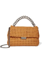 Stella Mccartney Becks Woven Faux Leather Shoulder Bag Saffron