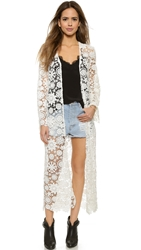 Nightcap Clothing Caribbean Crochet Robe White