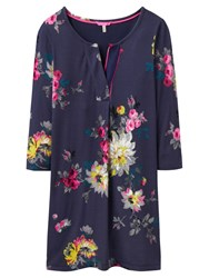 Joules Kimberley Notch Neck Tunic Dress French Navy Floral