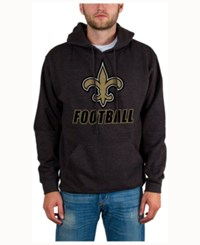 Junk Food Men's New Orleans Saints Wing T Formation Hoodie Heather Charcoal