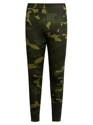 Adidas By Day One Camouflage Print Performance Leggings Green Multi