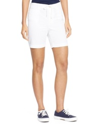 Lauren Jeans Co. Chino Drawstring Shorts White