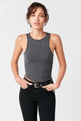 Bdg Maddie Ribbed Tank Top Charcoal