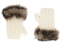 Ugg Crochet Gloves W Lurex Sequins Toscana Trim Ivory Multi Extreme Cold Weather Gloves Bone