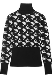 Duro Olowu Intarsia Wool Turtleneck Sweater Black