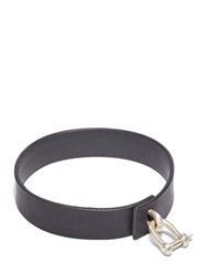 Parts Of Four Leather Charm Choker Black