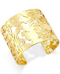 Kate Spade New York 12K Gold Plated Openwork Butterfly Cuff Bracelet