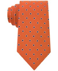 Club Room Men's Drifters Dot Pattern Classic Tie Only At Macy's Orange