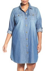 Vince Camuto Plus Size Women's Two By Denim Shirtdress Authentic