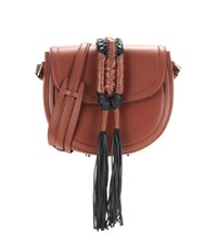 Altuzarra Ghianda Saddle Knot Leather Shoulder Bag Brown