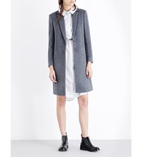 Joseph Single Breasted Wool And Cashmere Blend Coat 200 Grey