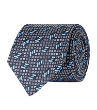 Turnbull And Asser Abstract Tie Unisex Navy