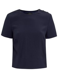 Ted Baker Colour By Numbers Kyna Cross Back Boxy Top Navy