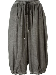 Unconditional Cropped Harem Pants Grey