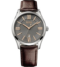 Hugo Boss 1513041 Ambassador Watch With Leather Strap Brown