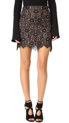 For Love And Lemons Rosemary Miniskirt Black