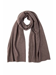 Johnstons Of Elgin Cashmere Gauzy Stole Brown