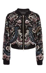 Needle And Thread Cinder Lace Bomber Black