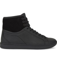 Aldo Severawien Leather Hi Top Trainers Black