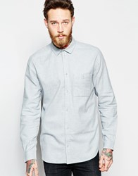 Weekday Delta Flannel Regular Fit Shirt In Light Grey Light Grey 07 101