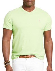 Polo Big And Tall Classic Fit Jersey V Neck T Shirt Green